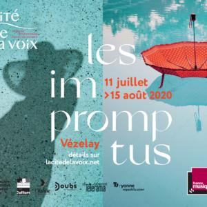 visuel des Impromptus du 11 juillet au 15 août à a Cité de la Voix