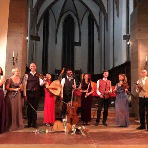 Photo de l'ensemble La Fenice dirigé par Jean Tubéry