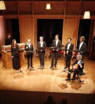 Photo de l'Ensemble Clément Janequin, direction Dominique Visse © Satirino
